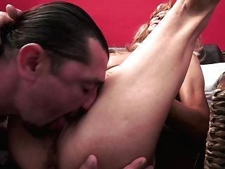 Skinny Regina Thumbs Her Clean-shaved Cooch