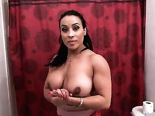 Senora Becca Diamond With Bubbly Slave Takes Wish Jizz Shot