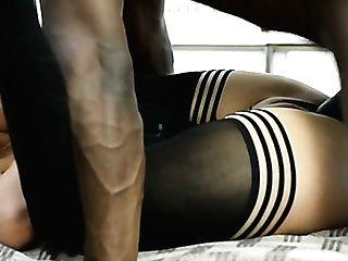 Fairly Long Legged Milky Call Girl Angel Karyna Gets Fucked Rear End By Black Hunk