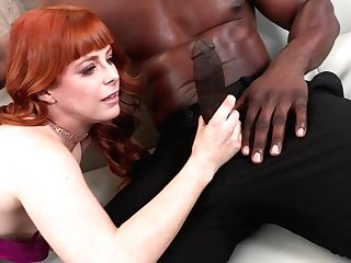 Sandy-haired Cougar Penny Pax Uses Her Big Boobies For Nice Boob Job For Black Stud