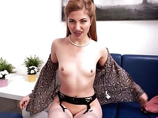 Ginger Brit Chick Stephanie Carter Shows Her Perky Tits And Yummy Muff