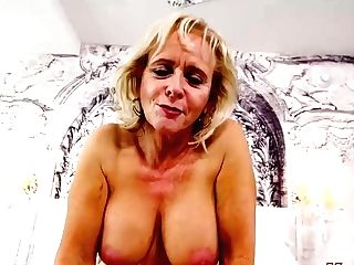 Matures Blonde Woman Is Making Porno Vids While Alone At Home, Because It Excites Her A Lot