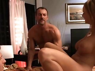 Charming Housewife With Big Udders Is Fucking Her Spouse And His Friend, At The Same Time