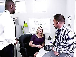Real Office Whore Zoey Monroe Works On Shafts Of Black And Milky Dudes