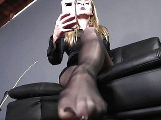 Paralyzed At My Feet - Pantyhose Dominance Starlet Nine Utter Flick