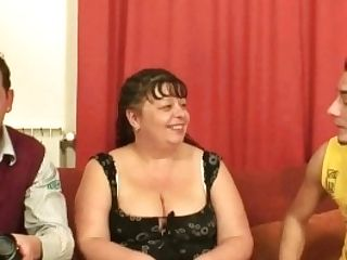 Huge-titted Mom Threesome