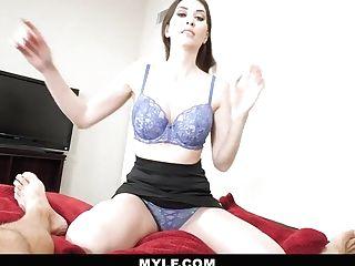 Mylf - Horny Pallid Mom Helps You Masturbate Off