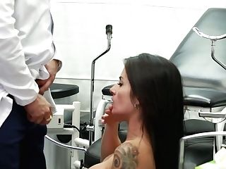 Spanish Ultra-cutie Bianka Blue Is Fucked Right On The Gynecological Stool