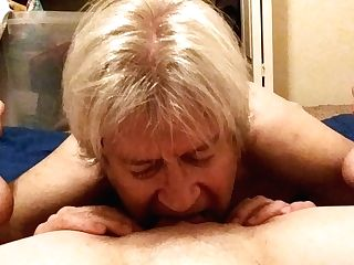 Old Man Gobbles Puss Of Youthfull Woman