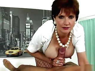 Cheating English Mummy Lady Sonia Pops Out Her Big Puppies
