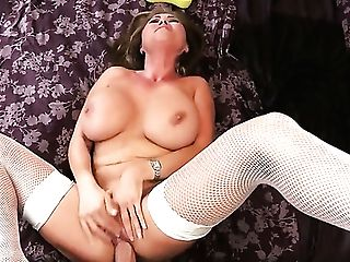 Clover Tempts Dark-haired Kianna Dior With Gigantic Melons Into Fucking