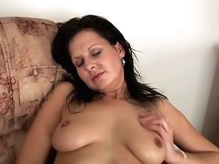 Sultry Raw Dark Haired Mom Naomi In Pink Lace Underpants