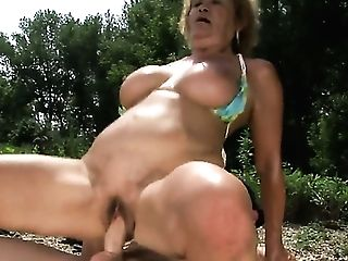 Old Granny Freaked By Her Beau On Her Hairy Sweet Vagina.