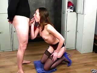 Hot Skinny Cougar Abigail Angel Oral Pleasure And Facial Cumshot Scene
