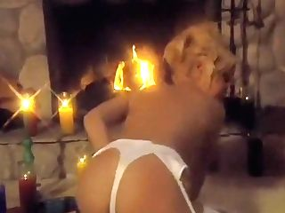 Ravishing Blonde In Milky Stockings Mila Masturbates With A Ample Faux-cock