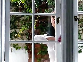 Window Stuck Step Mom Gets Fucked By Both Of Her Step Sonnies