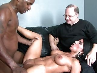 Dark Haired Kendra Secret With Massive Breasts Makes Stud's Interracial Sexual Fantasies Jism True