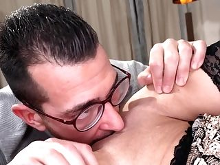 Lusty Matures Grand-ma Tiffany Rousso Fucked In Eyeglasses And Sexy Undergarments
