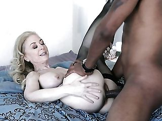 Yankee Milky Doll Nina Hartley Fellates Delicious Black Man Sausage Passionately