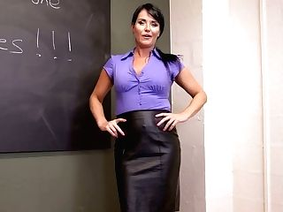 Spoiled Tutor Shelly Shows Off Her Outworn Out Vagina And Big Natural Tits