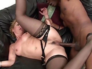 Horny, Blonde Housewife With Glasses, Kelly Leight Fucked A Black Dude And Liked It A Lot