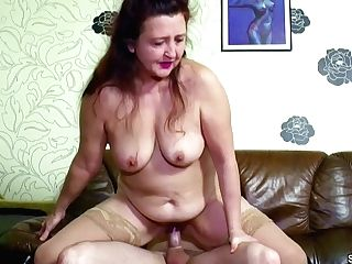 German Youthfull Boy Tempt Step-mom To Get First-ever Fuck