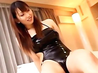 Crazy Japanese Office Lady, Ai Sayama Gives Footjob, Gets Money-shot