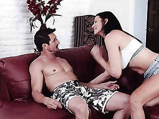 Ardent Long Legged Hot Nymphomaniac Reagan Foxx Begs Dude To Fuck The Shit Out Of Her Twat