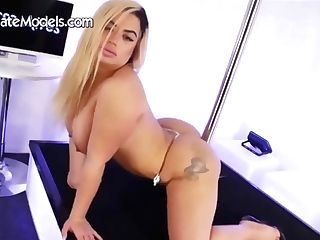 Gorgeous Blonde Mummy With Big Tits And Pierced Nips, Lissa Is Dancing And Getting Naked
