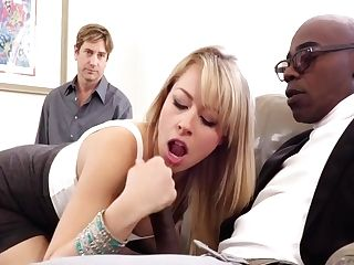 Sexy Blonde Gf Fucks Big Black Cock For Hotwife Beau