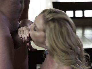 Blonde Cherie Deville With Massive Jugs Is The One Hard Cocked Dude Loves To Fuck