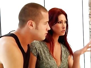 Hot Red-haired Tiffany Mynx Gets On Her Knees For A Big Dick