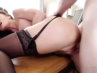 Sexy Silvia Saige Snatch Fucked On The Desk