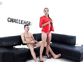 Amazing Mummy In Crimson High High-heeled Shoes Mea Melone Is Worth Good Rear End