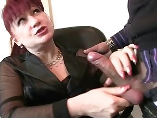 Ginger-haired Matures Woman Gets Dual Fucked